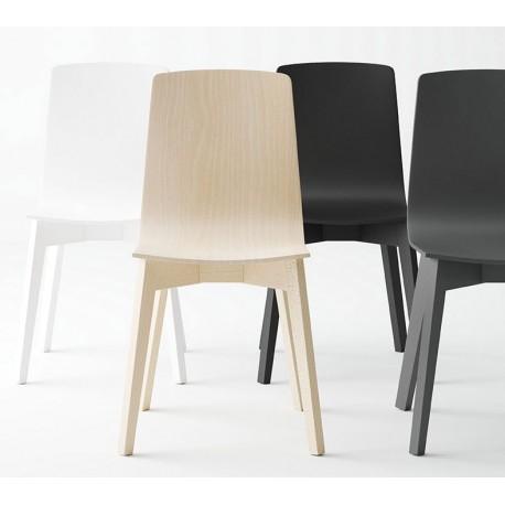 Sillas eclipse de cancio silla n rdica madera sillas for Silla nordica madera