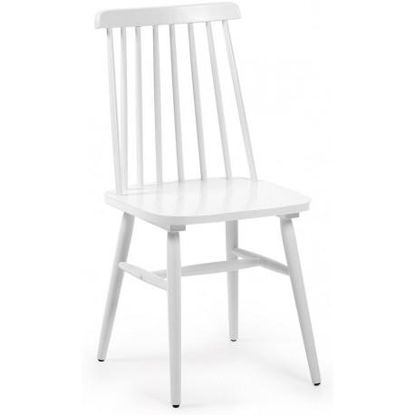 Silla de madera blanca, silla de cocina
